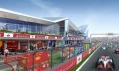 Britský okruh Silverstone po dokončení přestavby od Populous