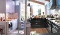 Novinky z katalogu Ikea 2011: Kuchyně Factum s růžovými dvířky Rubrik Appläd a s černohnědými Ramsjö