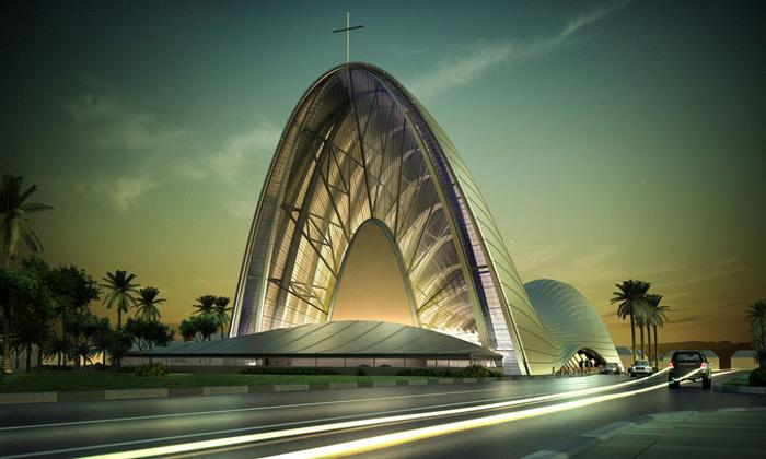 Nigérie postaví nový kostel připomínající housenku