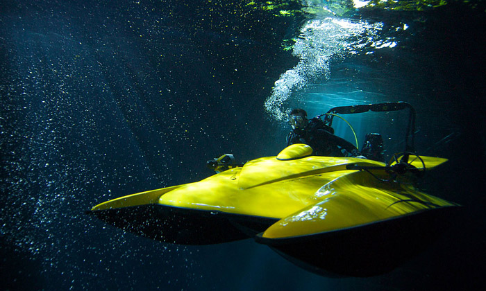 Loď Scubacraft smožnostmi ponorky jde doprodeje