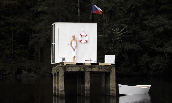 Mjölk postavili vLiberci veřejnou saunu navodě