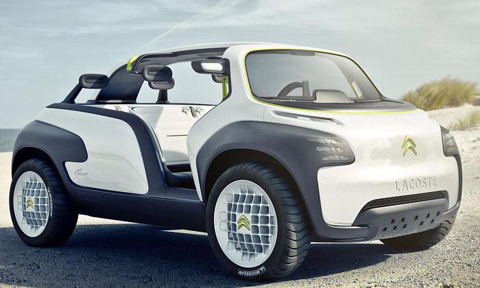 Citroën představil futuristické bílé vozítko Lacoste