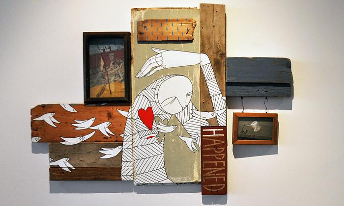 Know Hope vystavuje vTorontu dřevěný street art