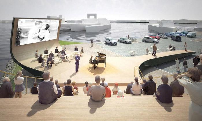 NL Architects postaví vAmsterdamu multi pódium