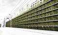 Dvoupatrové zelené parkoviště Shinjuku Gardens vTokiu