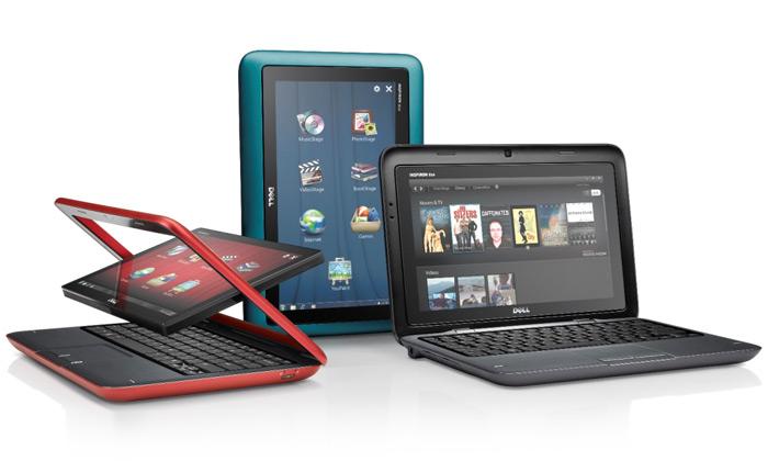Dell Inspiron Duo jepopřetočení displeje tabletem