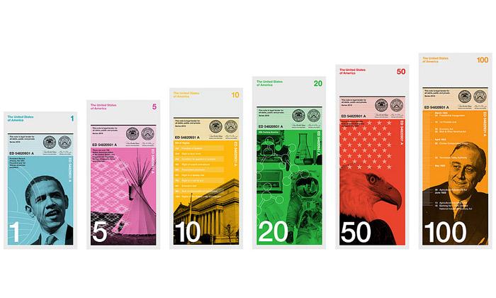Navrženy nové moderní dolarové bankovky pro USA