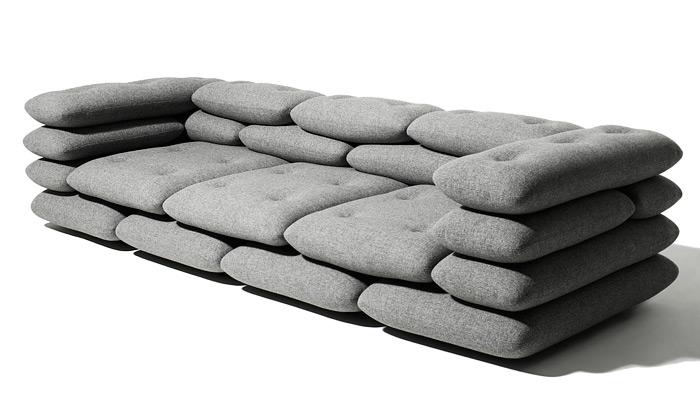KiBiSi navrhli pro Versus pohovku Brick zpytlů písku