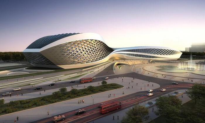 Zaha Hadid navrhla víceúčelové Chengdu Art Centre