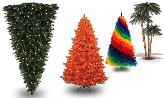 Treetopia nabízí barevné išílené vánoční stromky