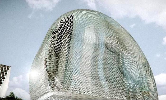 Madrid staví kongresové centrum připomínající UFO