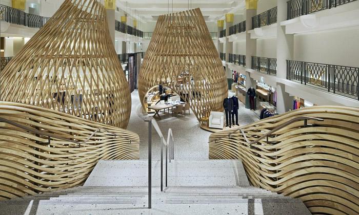 Hermès otevřel vPaříži obchod tvořen třemi hnízdy