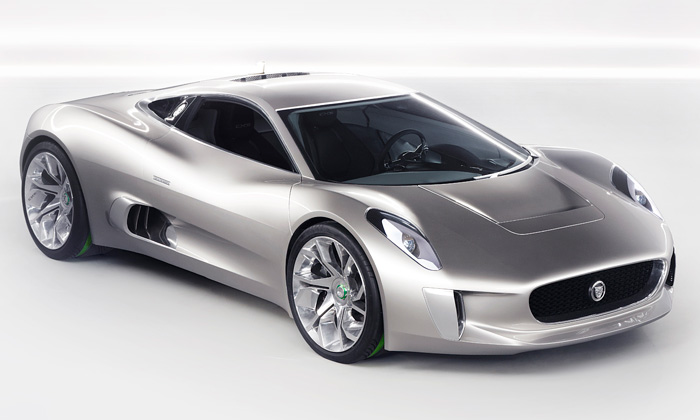 Jaguar C-X75 je supersport poháněný turbínami