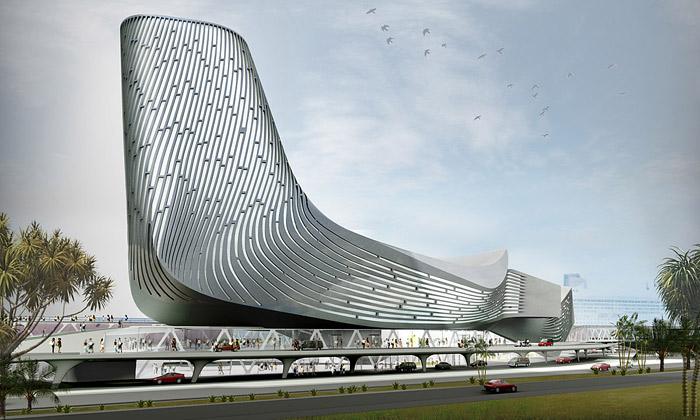 Tchaj-wan postaví lodní přístav skosmickými tvary