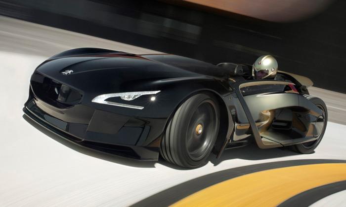 Peugeot EX1 jekoncepční sporťák vetvaru kapky