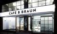 Kavárna B. Braun od Evy Jiřičné z exteriéru