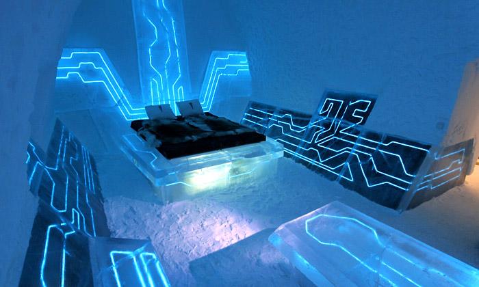 Ice Hotel dostal kvýročí pokoj vestylu Tron Legacy