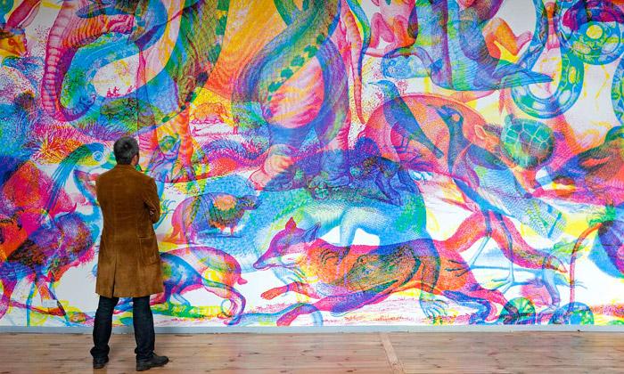 Carnovsky vystavují vBerlíně tajemné RGB fresky