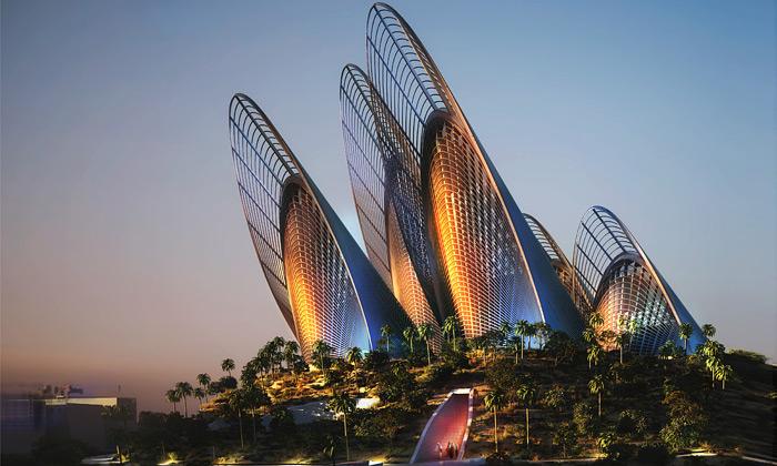 Foster staví Zayed Museum stvarem křídel sokolů