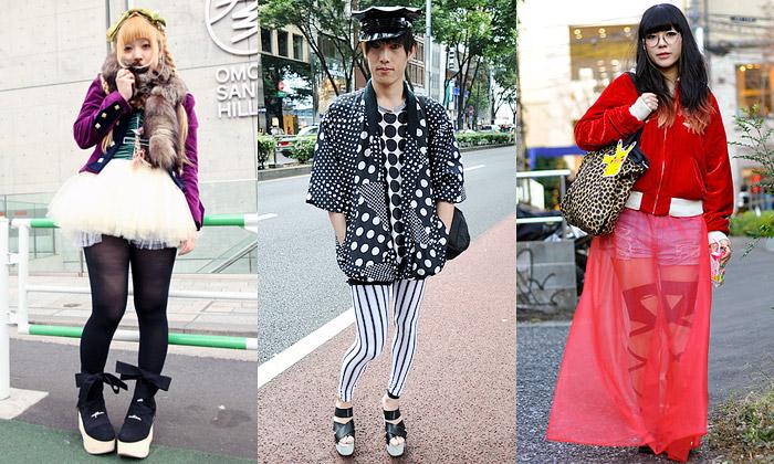 Nejšílenější módní kreace chodí poulicích Japonska