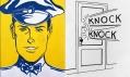 Výstava Roy Lichtenstein v galerii Albertina: Gas Station Attendant a Knock Knock