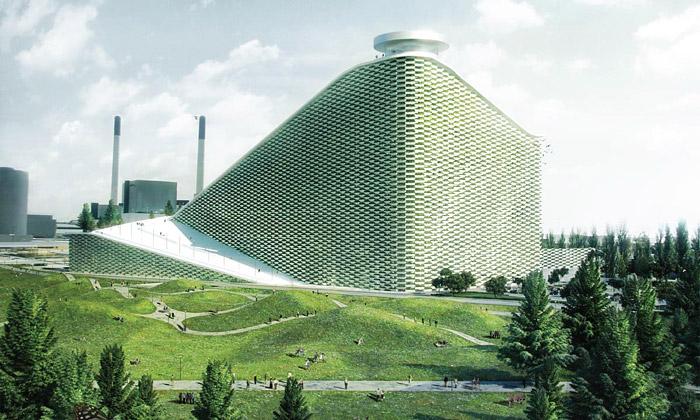 Kodaň přestaví továrnu naumělé sjezdovky dle BIG