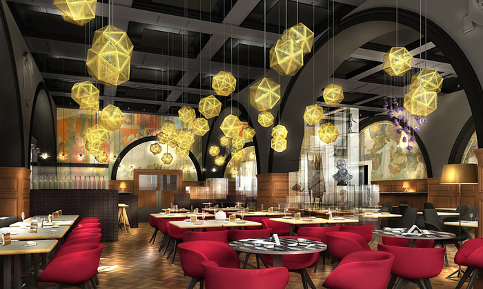 Tom Dixon navrhl interiér restauraci Royal Academy