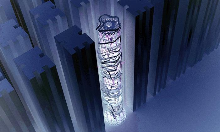 Ju-Hyun Kim navrhl vertikální zábavní park doměst
