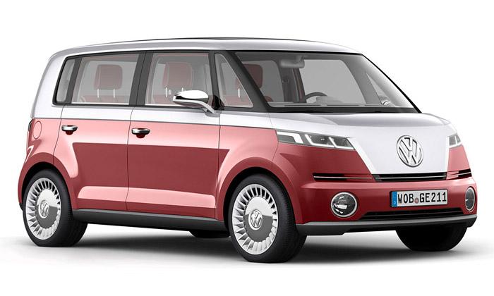 Volkswagen Bulli jeoživlý elektrický retro mini bus