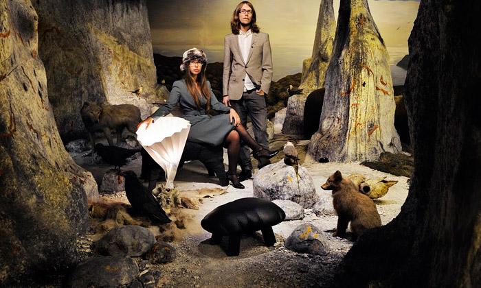 Biologiska vystavuje diorama skládaná 20 designery