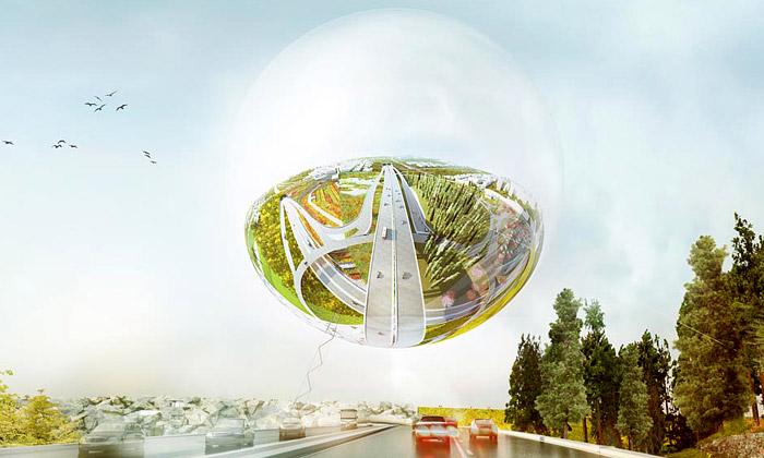 BIG postaví čtvrť Stockholmsporten slesklou koulí