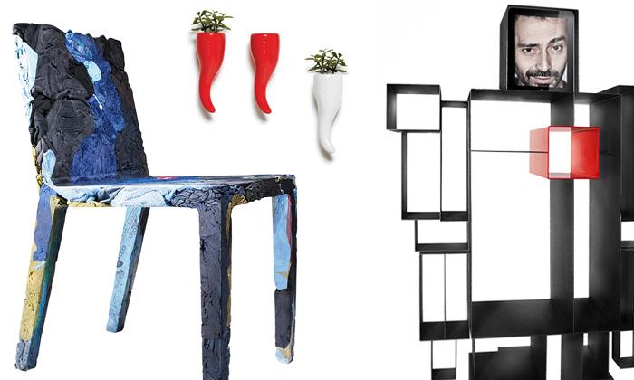 Casamania ohromila židlí vyrobenou zkusů oblečení