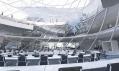Vítězný návrh parlamentu pro Albánii v Tiraně od studia Coop Himmelblau