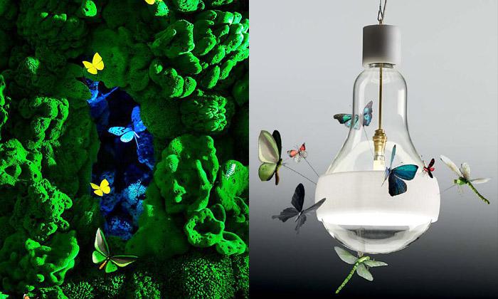 Ingo Maurer ukázali lustr Biotope idalší nová světla