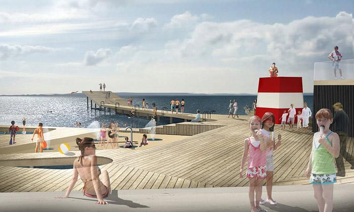 JDS postaví vDánsku molo pro koupání vefjordu