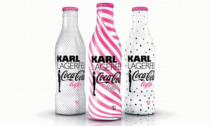 Karl Lagerfeld navrhl další tři láhve Coca-Cola Light
