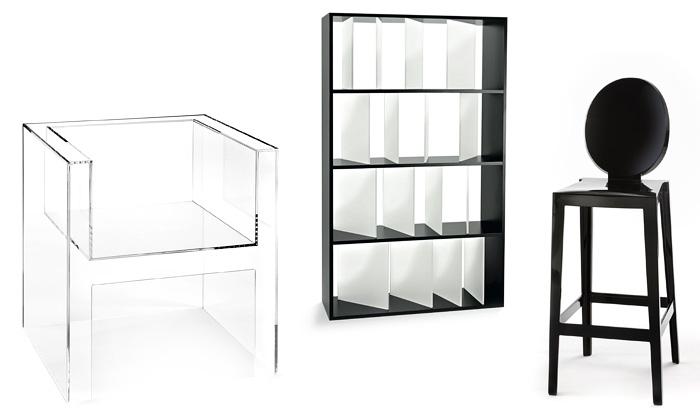 Kartell má nové ikony alehký neviditelný nábytek
