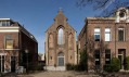 Kostel svatého Jakuba v přestavbě od Zecc ve městě Utrecht