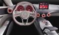 Interiér konceptu vozu Mercedes-Benz Concept A-Class