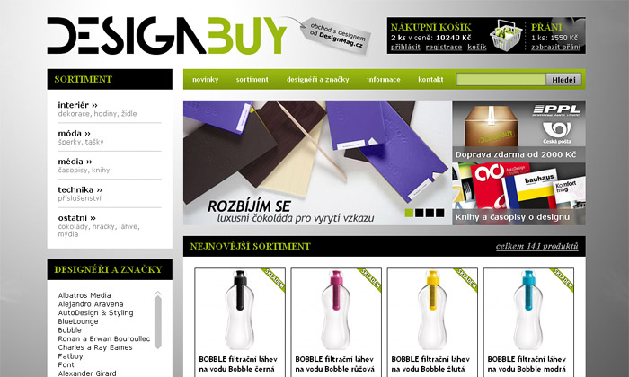 DesignMag.cz otevírá design e-shop DesignBuy.cz