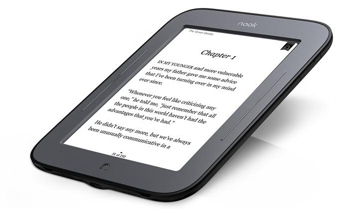 Čtečka knih Nook má dotykový elektronický papír