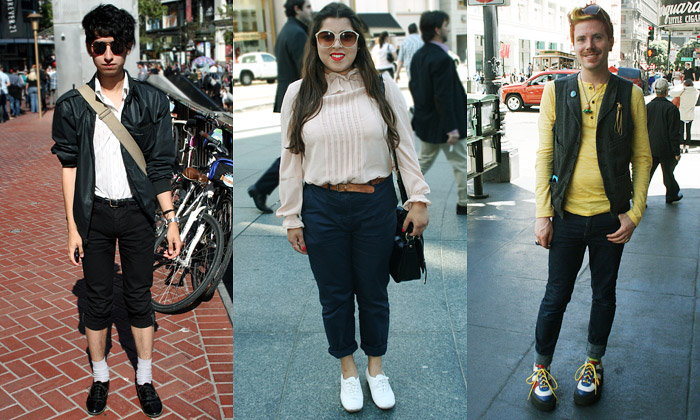 San Francisco jeplné nevázaných módních kreací