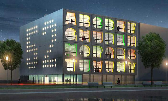 MVRDV staví vAmsterdamu budovu sokny zpísmen