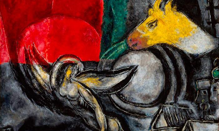 Marc Chagall vystavuje imaginární pohled naBibli