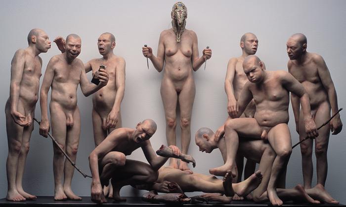 Štipl vystavuje nahé voskové sochy vDvorak Sec