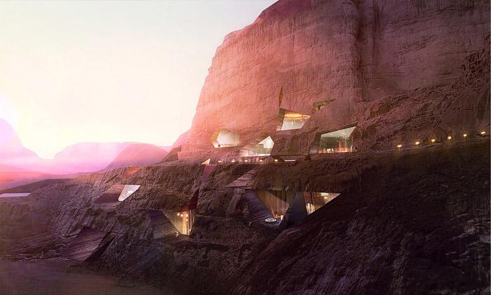 V jordánské poušti vyroste skalní Wadi Rum Resort