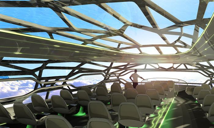 Airbus představil průhledné letadlo pro rok 2050