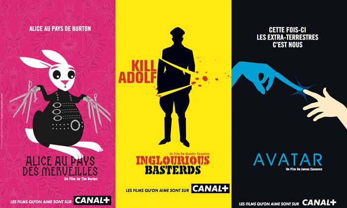 Canal+ poutá nafilmové premiéry vtipnými plakáty