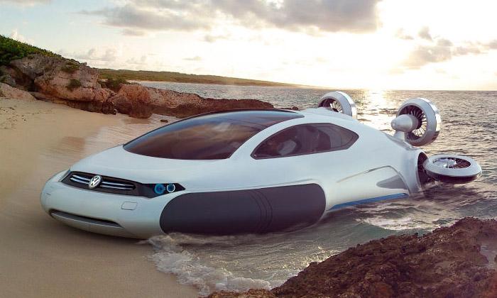 Volkswagen Aqua jevznášedlo namoře idohor