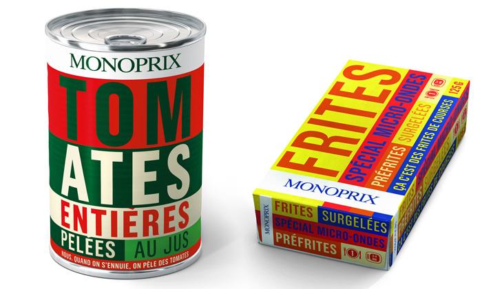 Pop art naobalech potravin Monoprix baví Francii